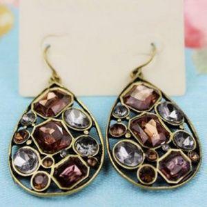 Multi-Stone Vintage Style Earrings